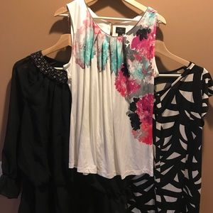 Tops - Lot of 3 XL Career Shirts/ Tops Excellent
